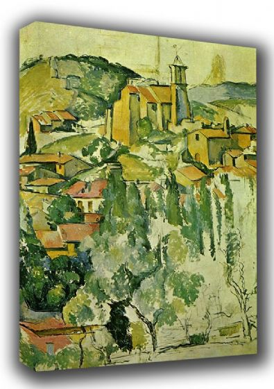 Cezanne, Paul: The Village of Gardanne. Fine Art Landscape Canvas. Sizes: A3/A2/A1 (001024)